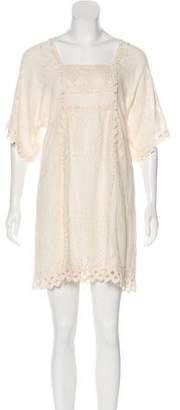 Anna Sui Crocheted Mini Dress