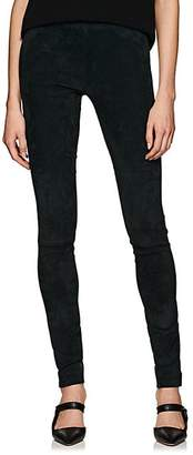 The Row Women's Moto Suede Skinny Pants - Peacock