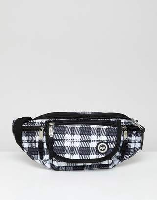 Hype mono check fanny pack