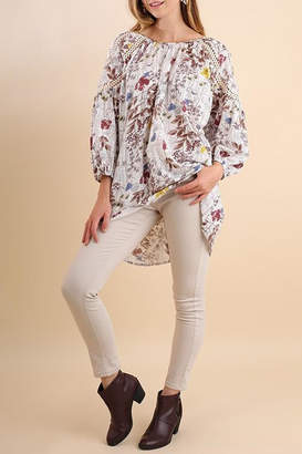 Umgee USA Botanical Print Tunic