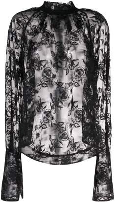 Ann Demeulemeester floral lace blouse