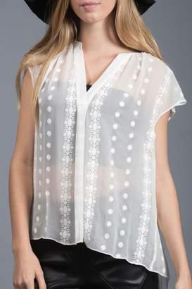 Zoa Silk Lace Blouse