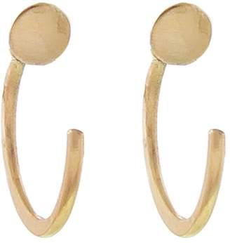 Melissa Joy Manning Solid Circle Hug Hoop Earrings