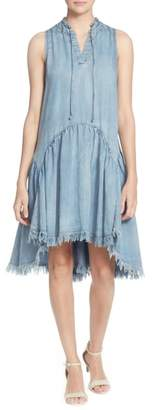 Catherine Malandrino Keala Dropwaist Chambray Dress