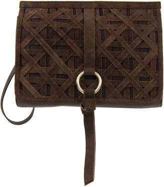 Nanette Lepore Aspen Iii Colorblock Leather & Suede Clutch