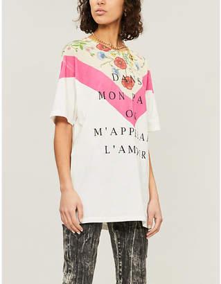 Gucci Logo-print oversized cotton-jersey T-shirt