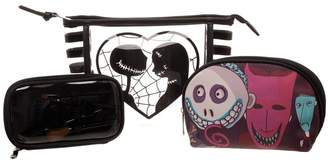 Bioworld Disney Nightmare Before Christmas Junior Cosmetic Makeup Bag 3 Pce Set