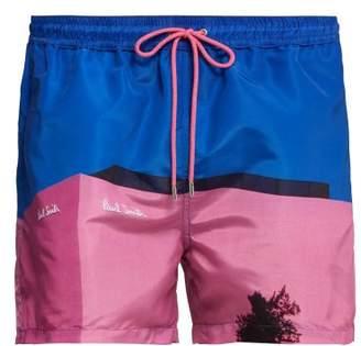 Paul Smith Placement Print Swim Shorts - Mens - Purple