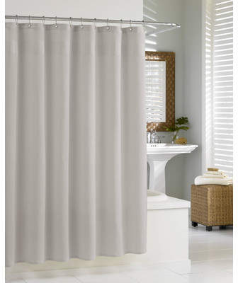 Wayfair Fetzer Extra Heavy Hotel Quality Cotton Shower Curtain