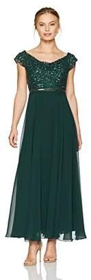 J Kara Women's Petite Beaded Empire Waist Gown