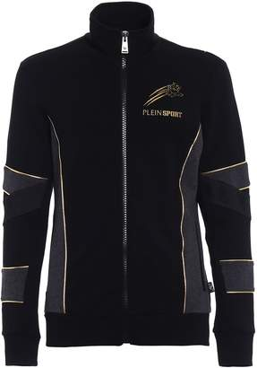 Philipp Plein Gold Cotton Sweat Jacket