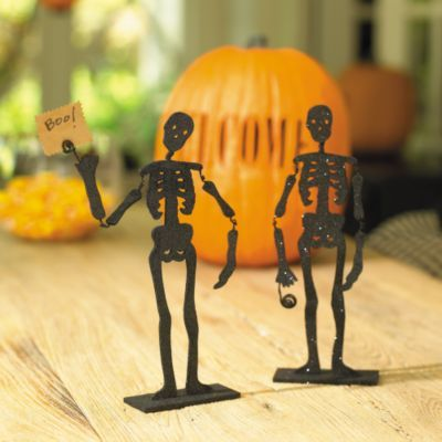 Set of 4 Skeleton Placecard Holders