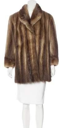 Collared Fox Fur Coat
