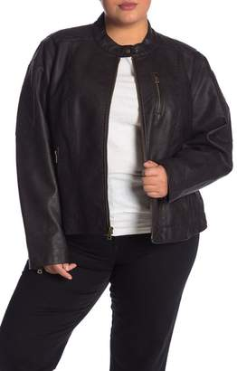Levi's Faux Leather Moto Jacket (Plus Size)