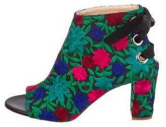 Jerome C. Rousseau Crayon Embroidered Ankle Boots w/ Tags