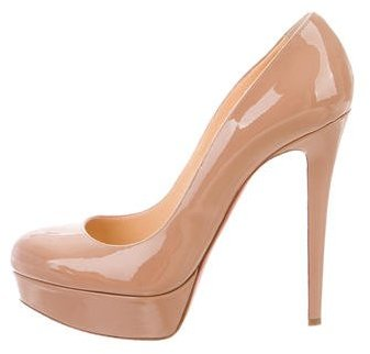 Christian Louboutin  Christian Louboutin Bianca 140 Patent Leather Pumps