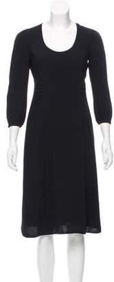 Marc Jacobs Long Sleeve Midi Dress Black Long Sleeve Midi Dress