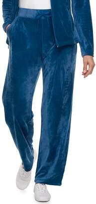 Croft & Barrow Women's Straight-Leg Velour Pants