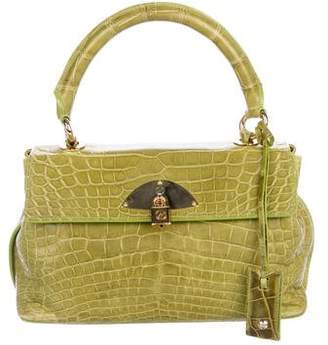Giorgio Armani Alligator Handle Bag