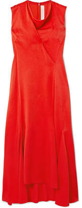 Victoria Beckham Draped Crepe Midi Dress - Red