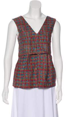 Folk Printed Sleeveless Top