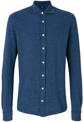 Barba long sleeve polo shirt