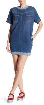 Love Moschino Denim Mini Shift Dress
