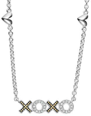 Lagos Diamond CaviarTM XOXO Pendant Necklace