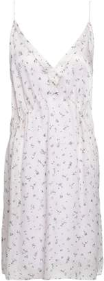 IRO Satin-trimmed Floral-print Silk-georgette Mini Dress