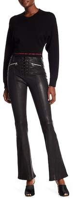 Rag & Bone Lace-Up Leather Pants