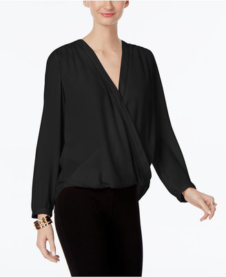INC International Concepts Wrap Blouse, Only at Macy's $69.50 thestylecure.com