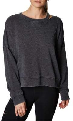 Slit and Distressed Pullover