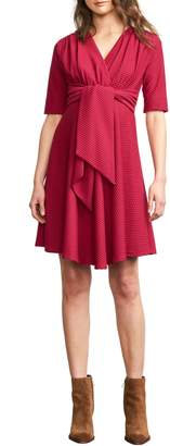 Maternal America Tie Waist Maternity Dress