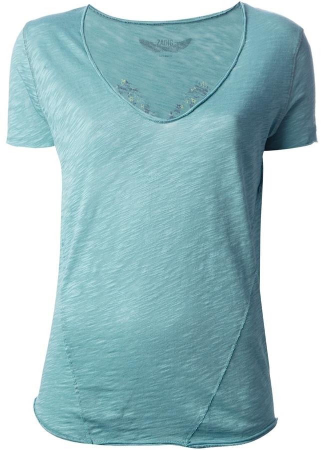 Zadig & Voltaire floral print t-shirt