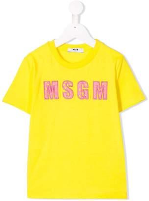 MSGM Kids embroidered logo T-shirt