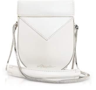 3.1 Phillip Lim White Leather Soleil Mini Case