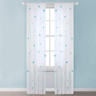 MIZONE Taylor Sheer Rod-Pocket Curtain Panel