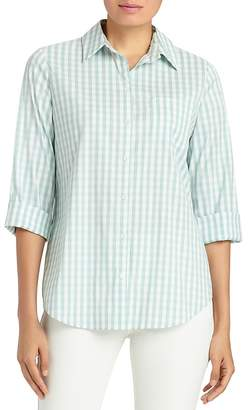 Lafayette 148 New York Paget Gingham Print Shirt $278 thestylecure.com