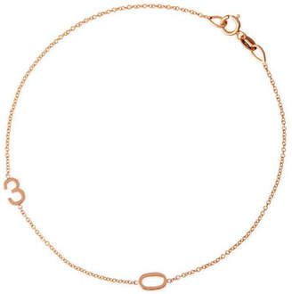 Maya Brenner Designs Mini 2-Number Bracelet, Rose Gold