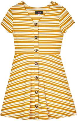 Amy Byer Iz Girls 7-16 IZ Striped Fit & Flare Dress