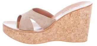 K Jacques St Tropez Suede Platform Sandals