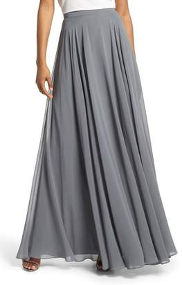 Jenny Yoo Hampton Long A-Line Chiffon Skirt