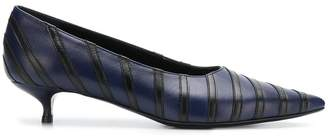 Sonia Rykiel striped pointed kitten heel pumps