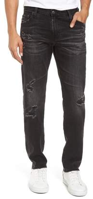 AG Jeans Tellis Modern Slim Fit Jeans (Smudged Black)