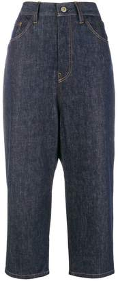 Y's high rise cropped jeans