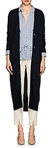 Boon The Shop Women's Mesh-Inset Knit Cashmere Long Cardigan-Navy