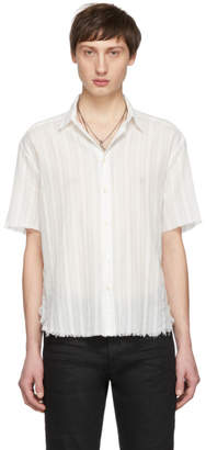 Saint Laurent White Open Seam Shirt