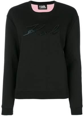 Karl Lagerfeld Plexi logo sweatshirt
