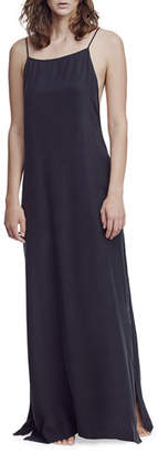Kiki de Montparnasse Square-Neck Silk Long Nightgown