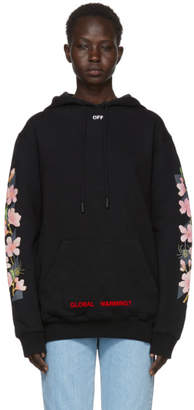 Off-White Off White SSENSE Exclusive Black Diagonal Cherry Hoodie